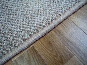 carpet overlocking in grey