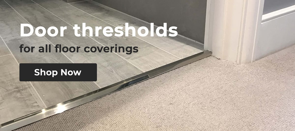 Carpet to lino door thresholds