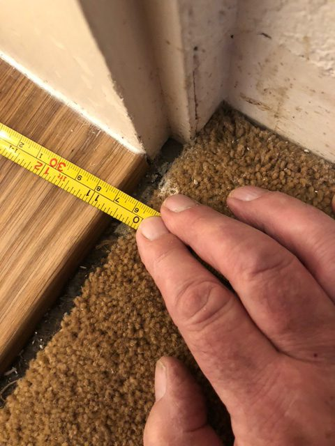 How to join up gap between wood step and carpet