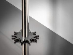 pipe collar in solis design around pipe black