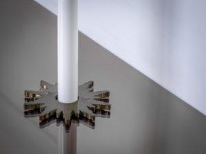 pipe collar in solis design around pipe bronze
