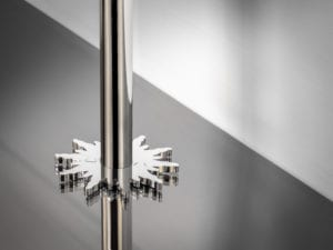 pipe collar in solis design around pipe chrome